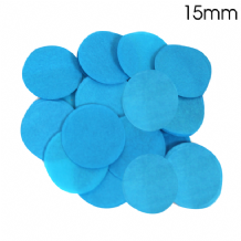 Turquoise Tissue Paper Confetti | 15mm Round | 14g Bag